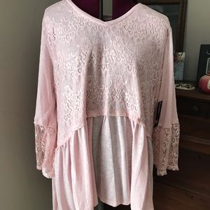 Soft pink top new with tags